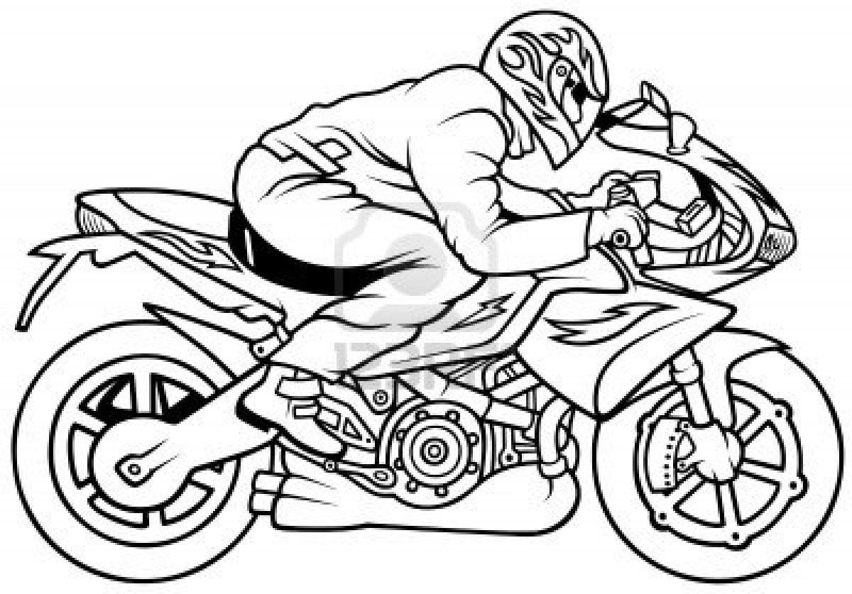 Motorcycle  53 (transportation) – Printable Coloring Pages