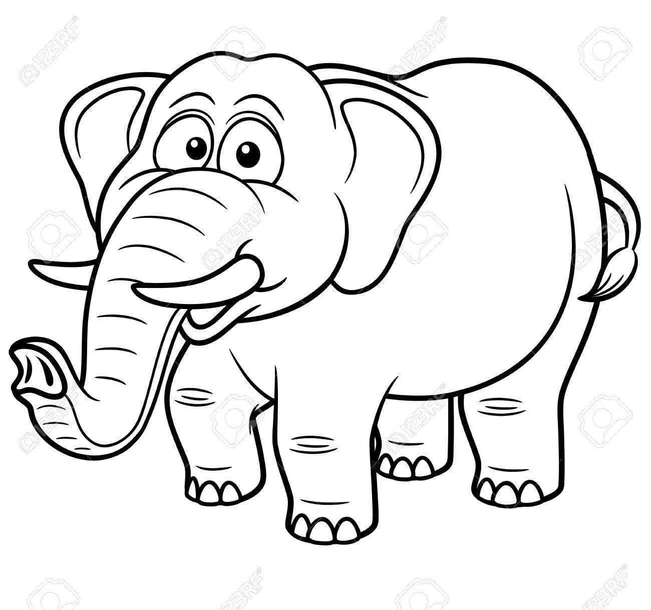 Elefante Para Colorir E Pintar 17