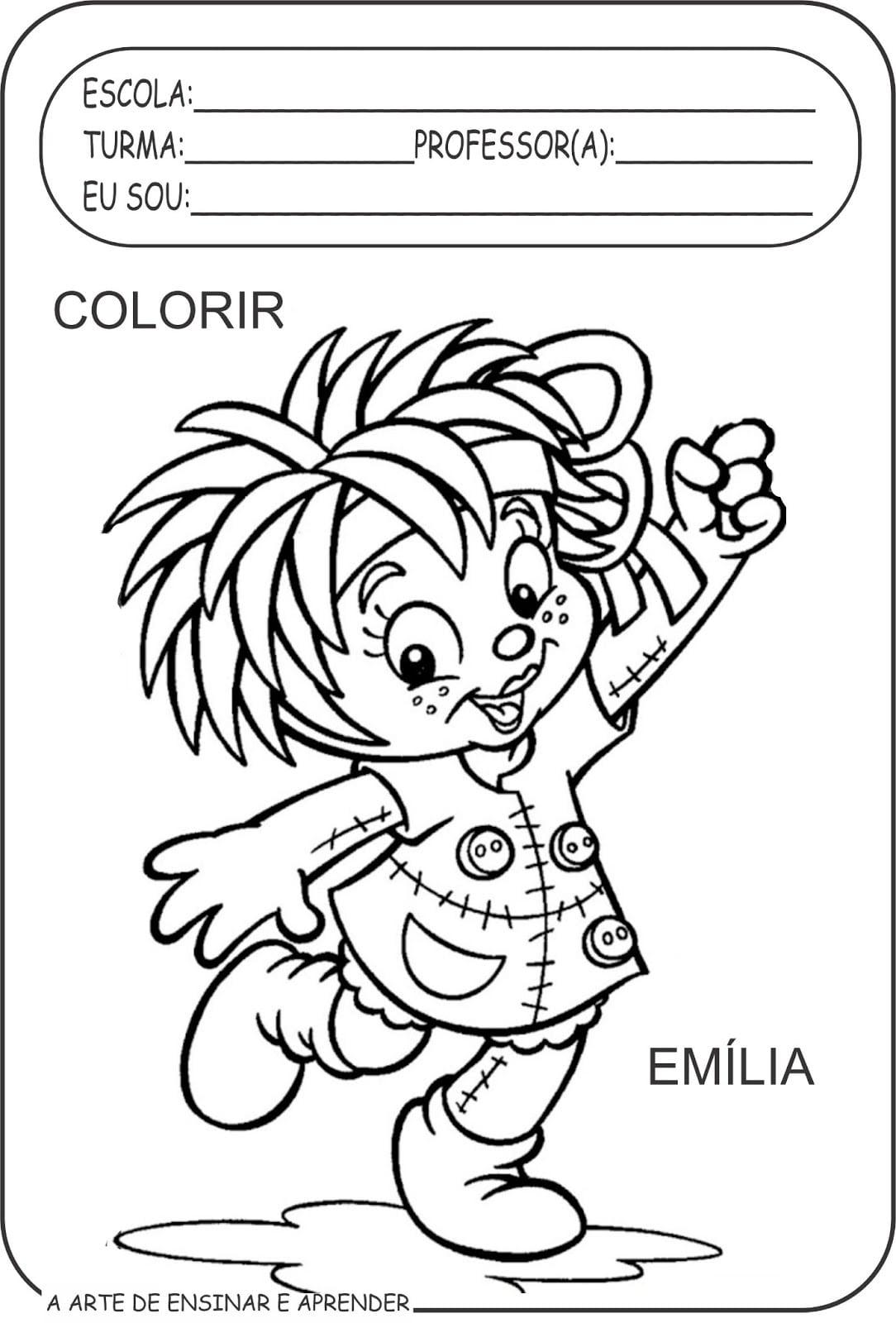 Personagens De Monteiro Lobato Para Colorir