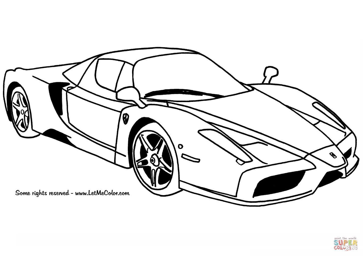 Desenho De Carro Ferrari Enzo Para Colorir