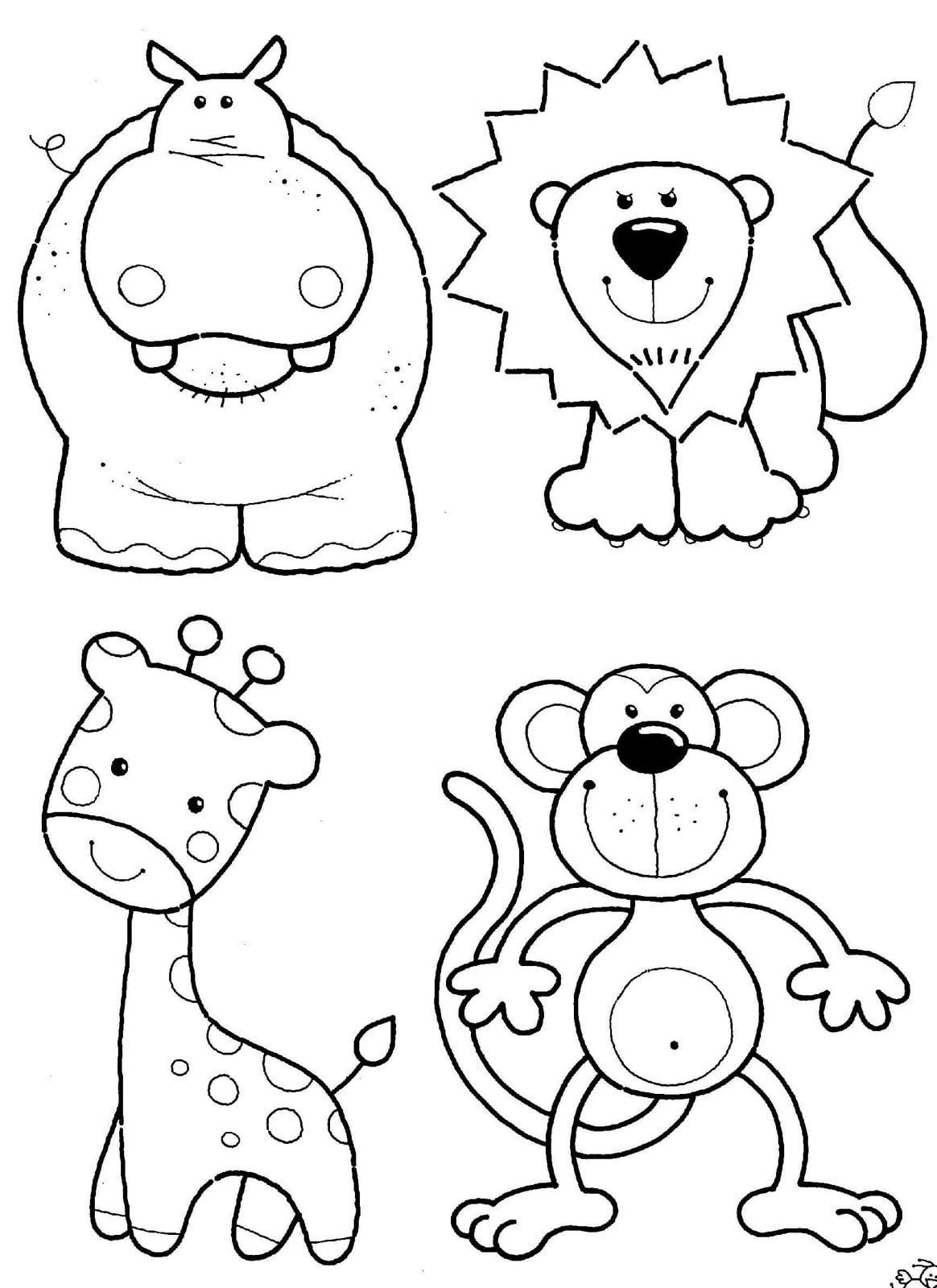 Figura De Macaco Para Colorir