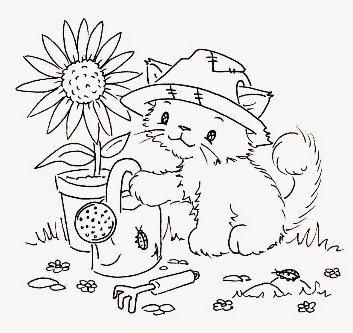 Desenhos De Gatos E Gatinhos Para Colorir, Pintar E Imprimir