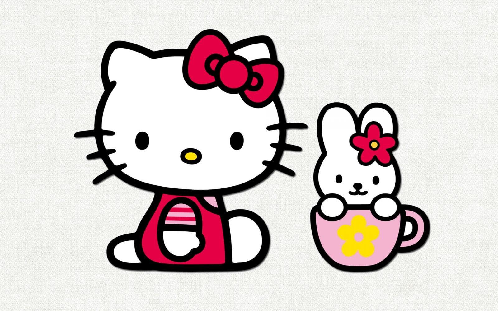 Hello Kitty E Coelho    Fotos E Imagens