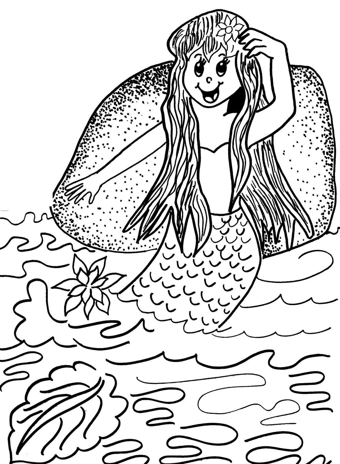 Desenho De Iara Folclore Brasileiro Para Colorir