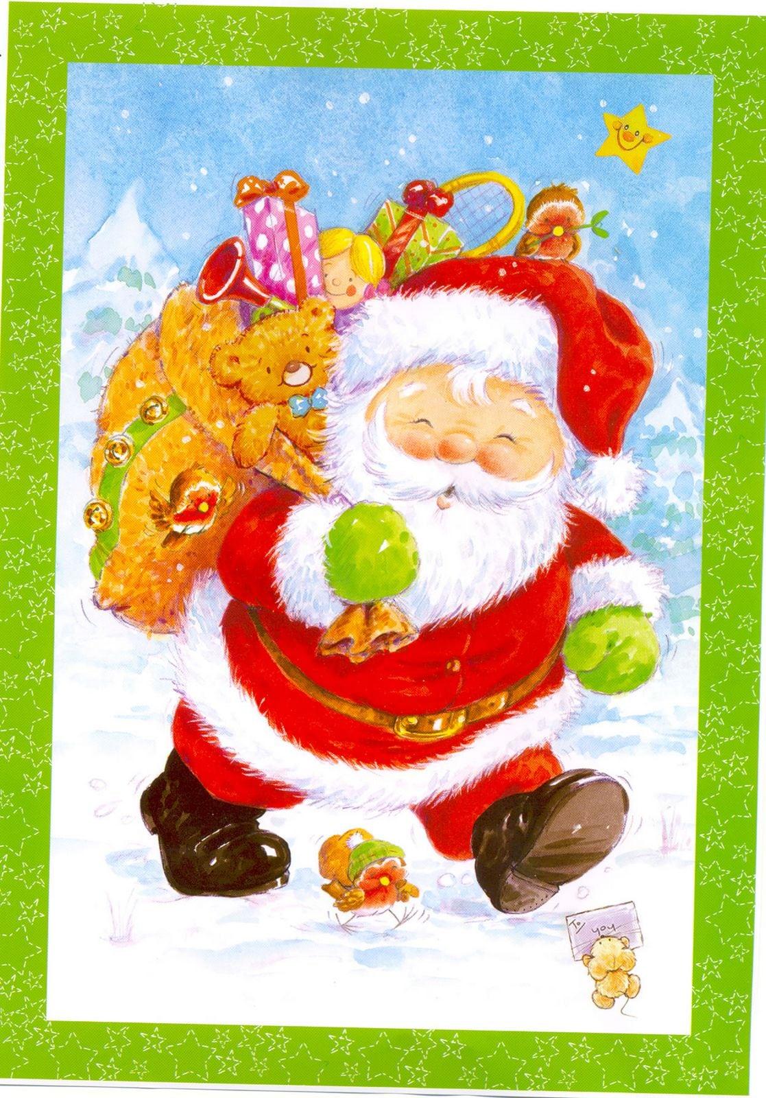 Papai Noel Colorido Para Imprimir