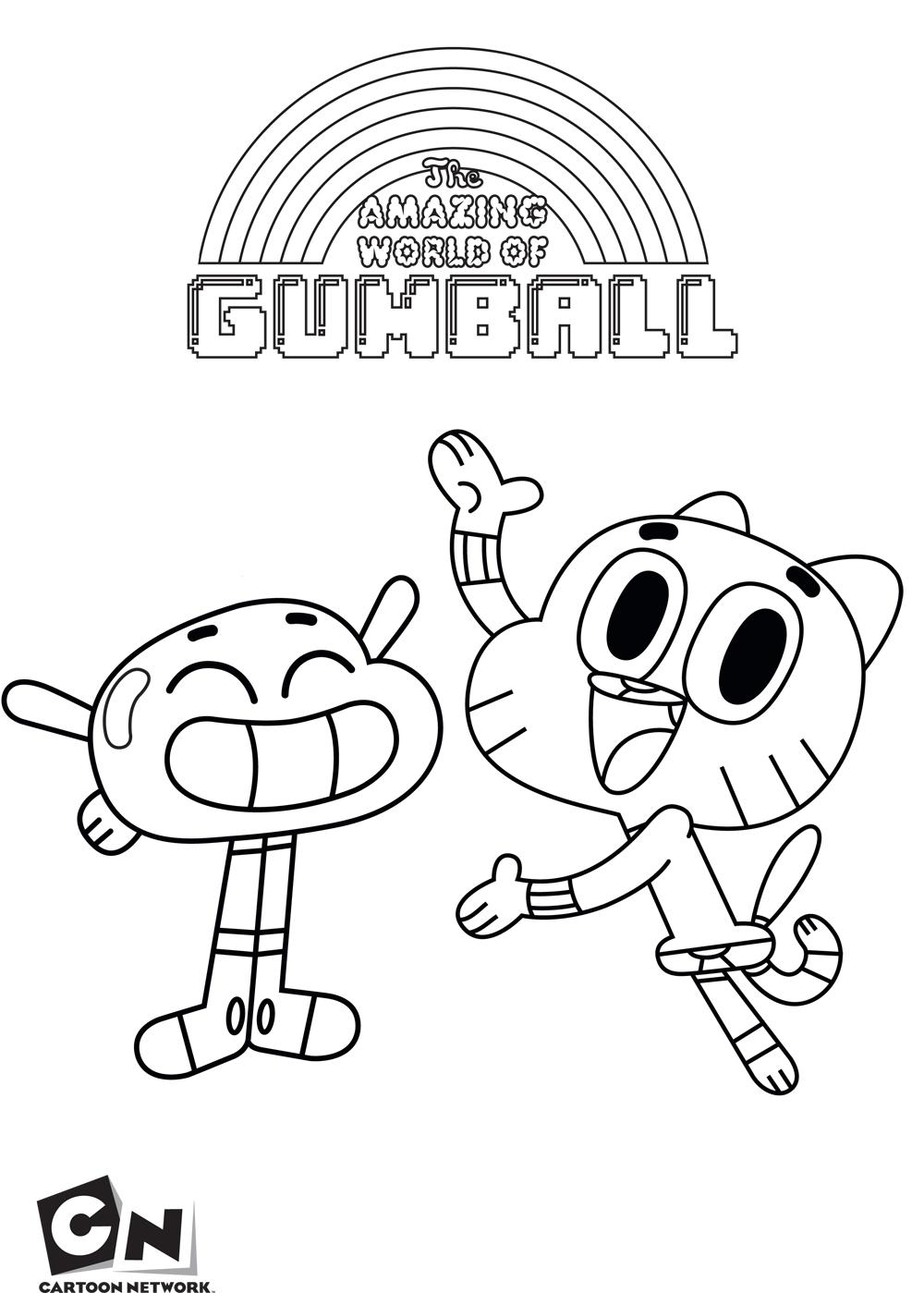 O Incrível Mundo De Gumball – Desenhos Para Imprimir Colorir E