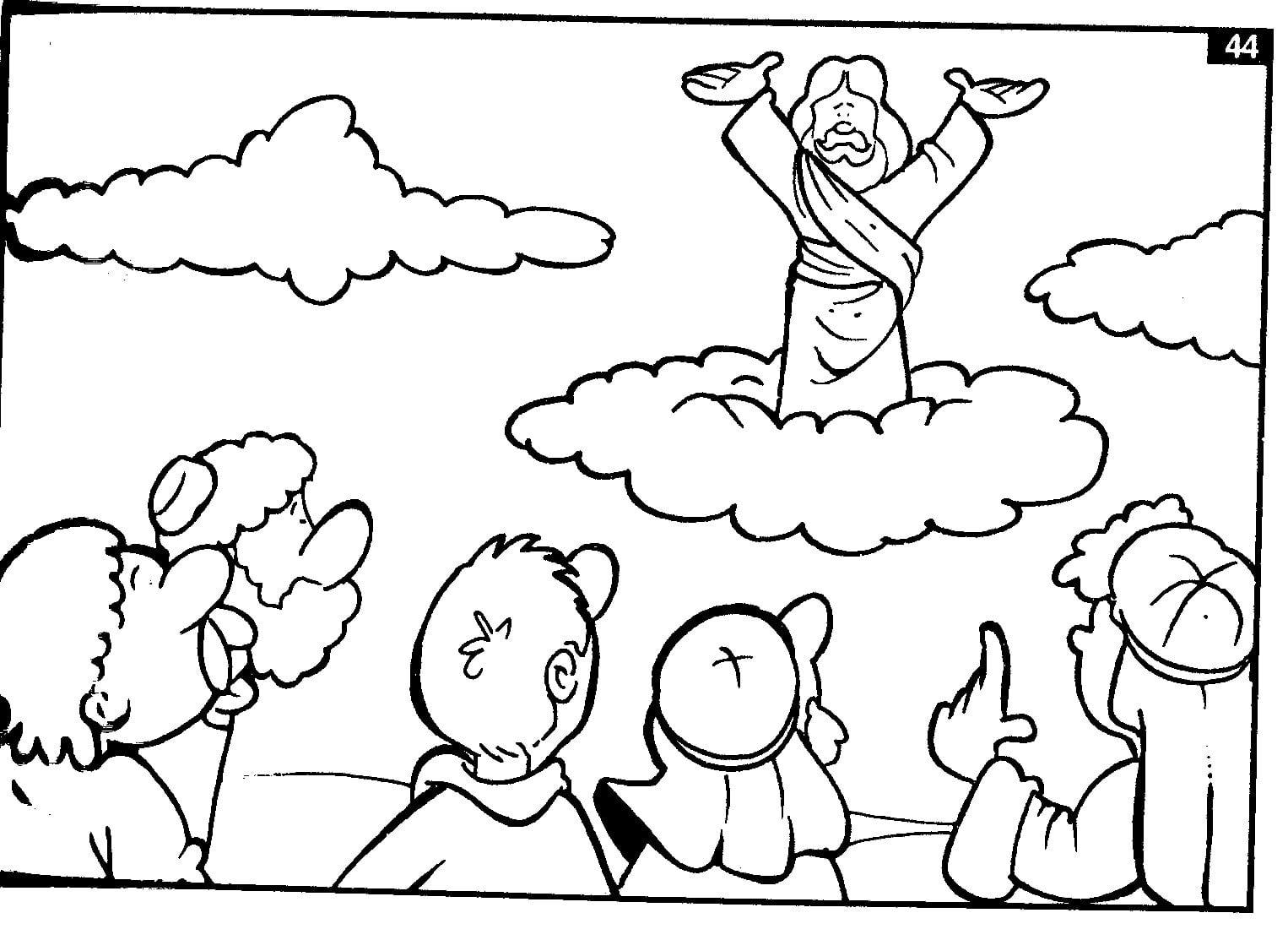 Escolinha Bíblica Da Garotada  Trabalhinhos Para Colorir(jesus