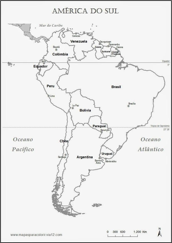 Mapa Do Brasil Na America Do Sul Para Colorir
