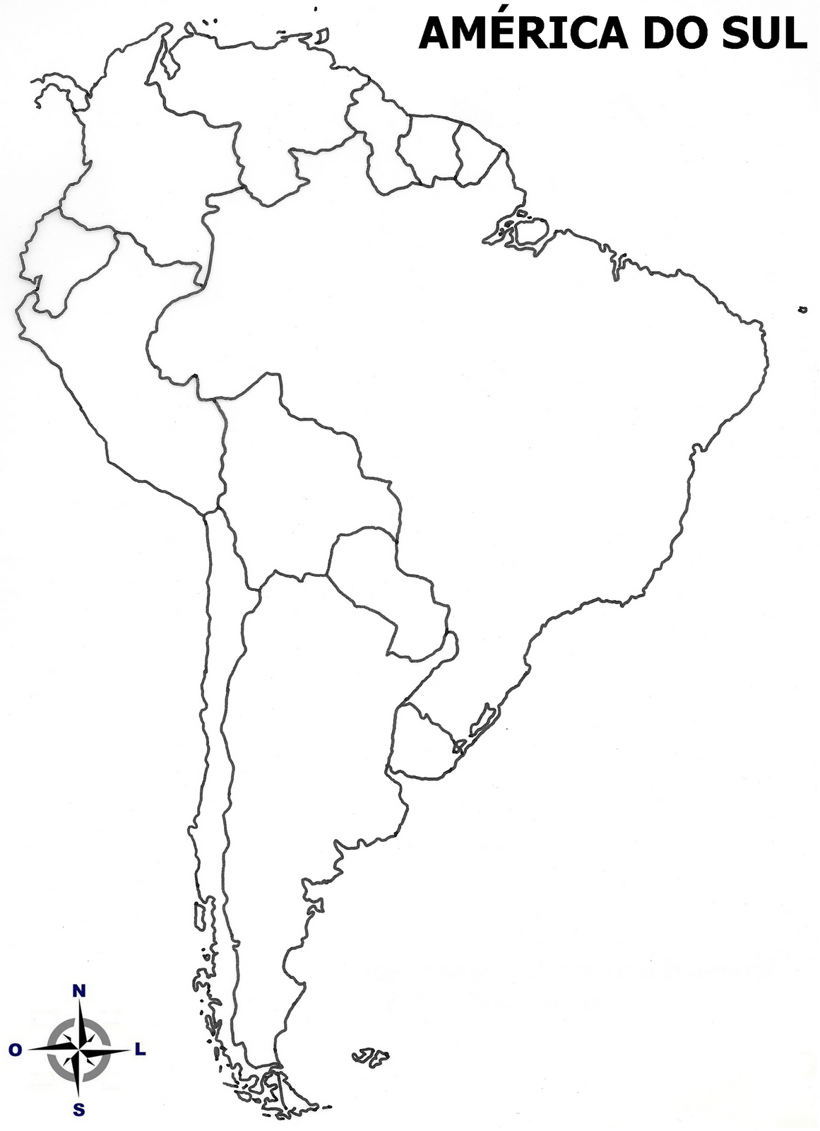 Mapa Para Colorir America Do Sul – Pampekids Net