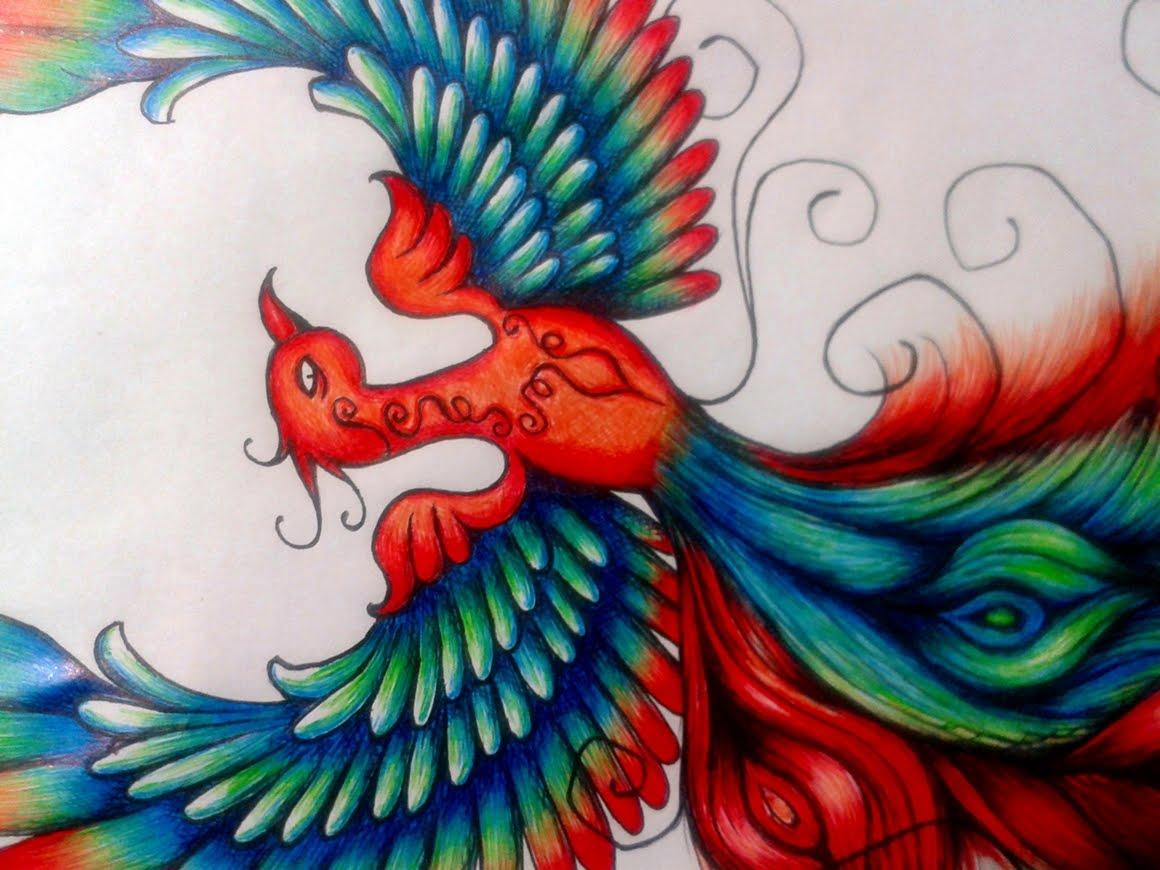 Desenho De Fênix Para Tattoo