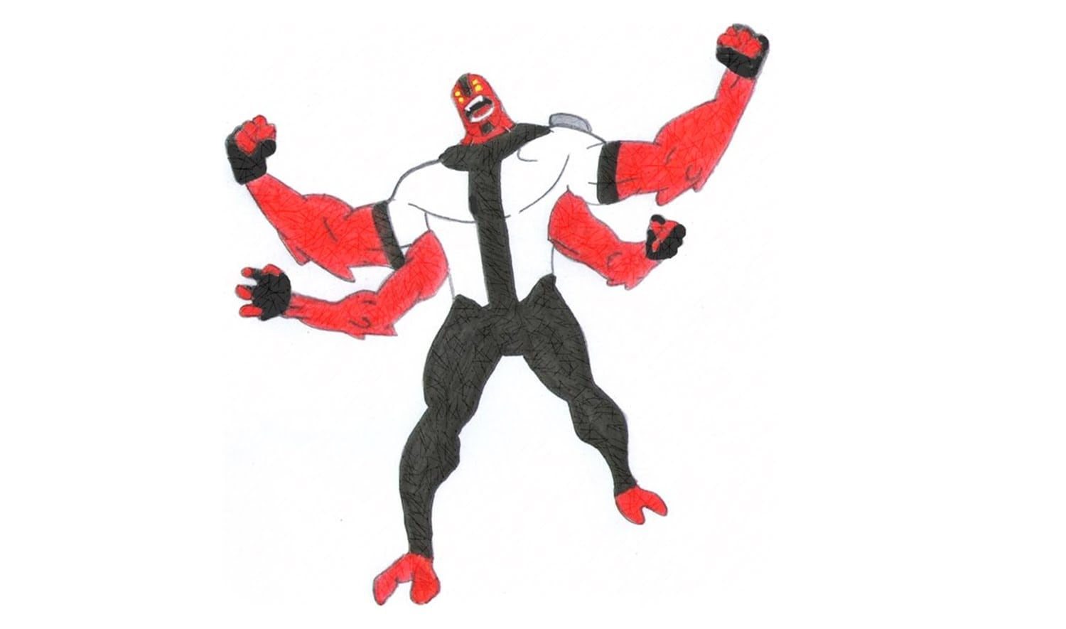 How To Draw Four Arms From Ben 10 Omniverse