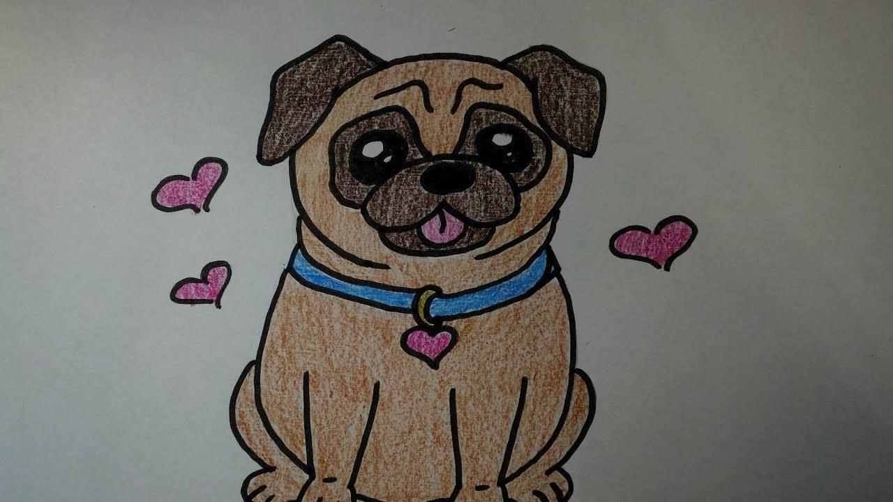 Desenhos Faceis De Fazer Como Desenhar Um Cachorrinho Fofo Pug