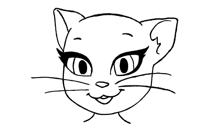 Como Desenhar A Angela De Minha Talking Angela (gata)