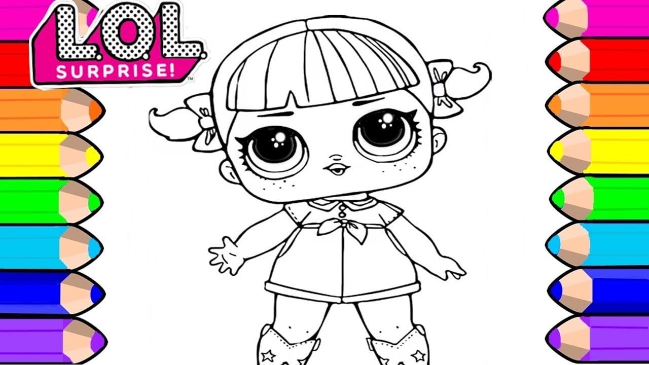 Desenho Para Pintar E Colorir Da Boneca Lol Surprise Para CrianÇas