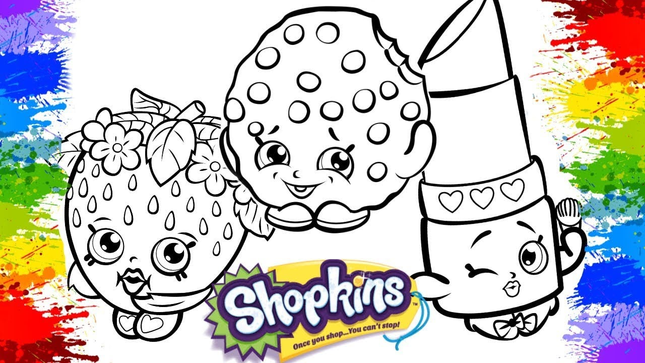 Pinturas Desenhos De Pintar Shopkins Videos Cartoon Colorir Para