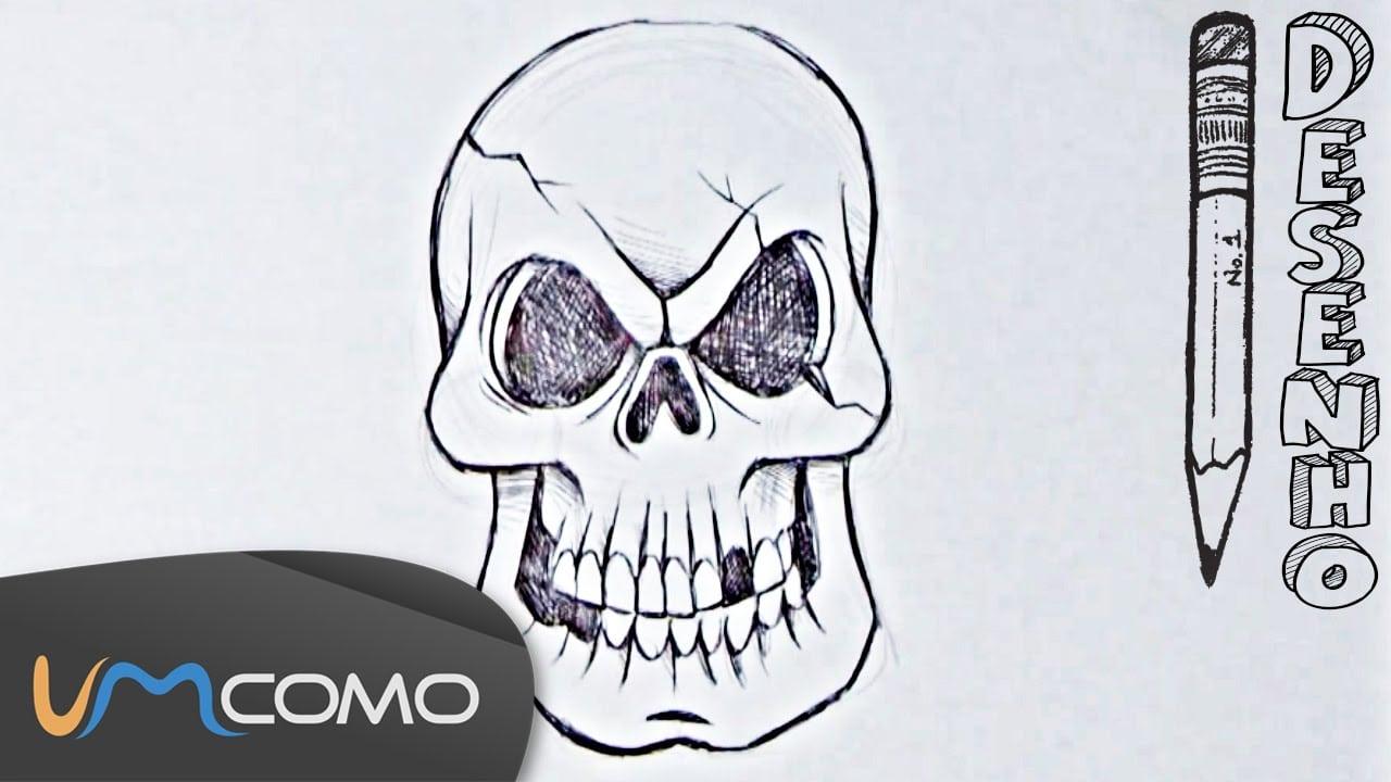 Desenhar Uma Caveira Para O Halloween