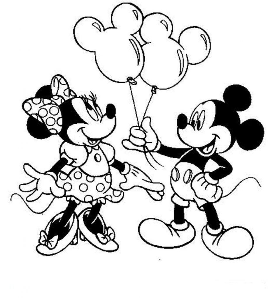Mickey E Minnie Para Colorir E Pintar 3