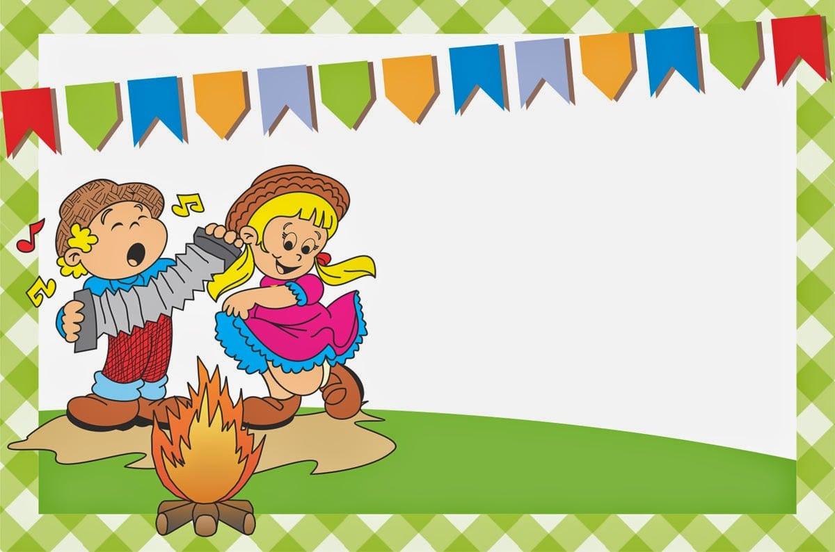 Baú Da Web  7 Modelos De Convites De Festa Junina Coloridos Para