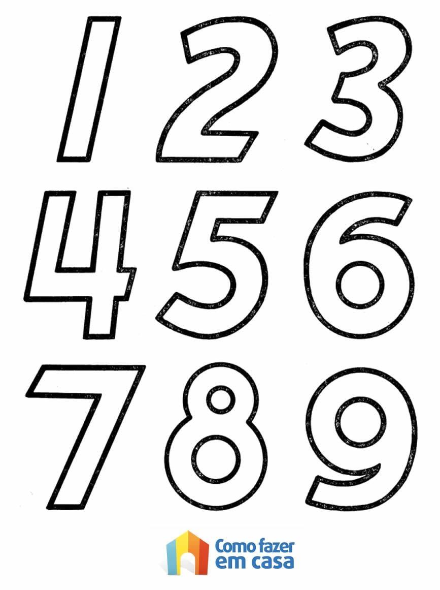 Moldes De NÚmeros Para Imprimir Para Alfabetização E Colorir