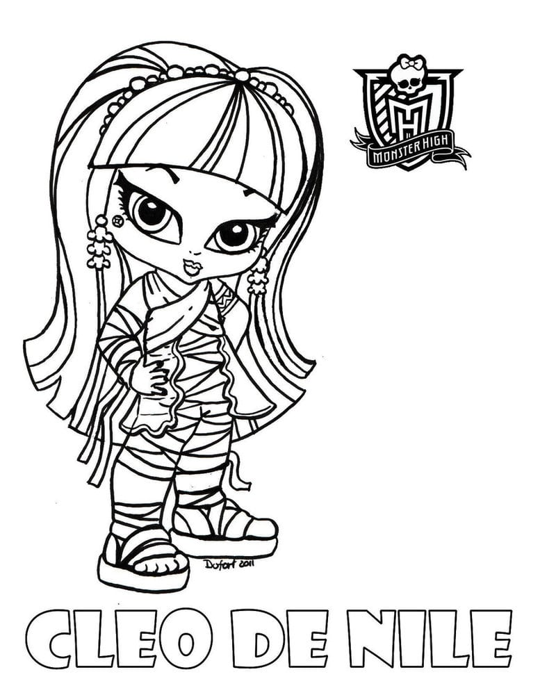 Desenho Para Colorir Monster High Baby