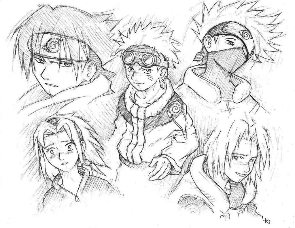 Imagens De Naruto Para Colorir Online