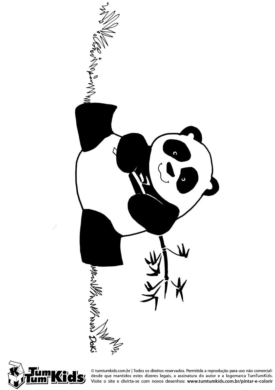 Panda Para Colorir