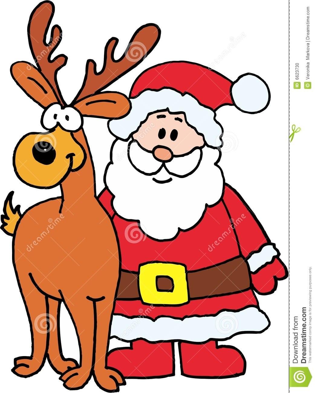 Desenho De Papai Noel Colorido