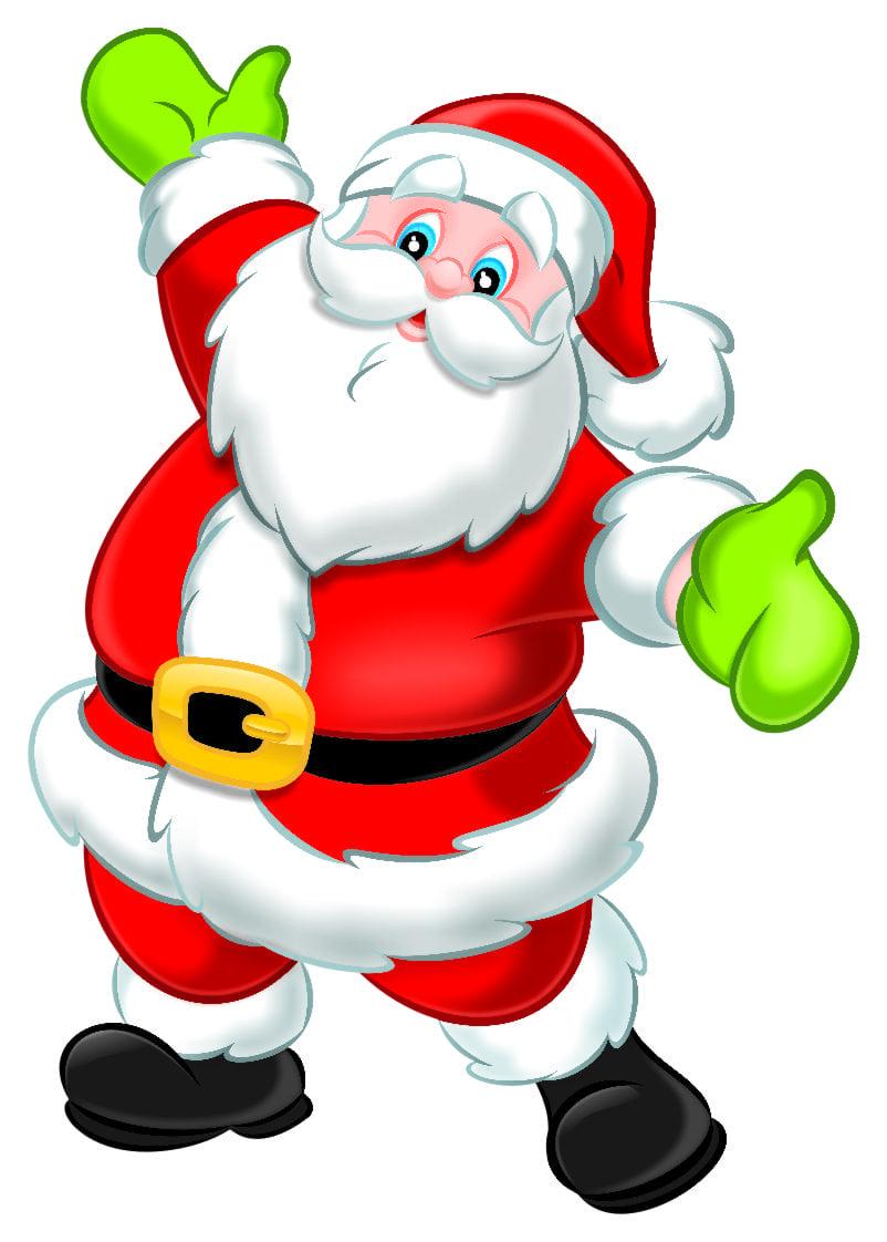 Desenho Papai Noel Colorido