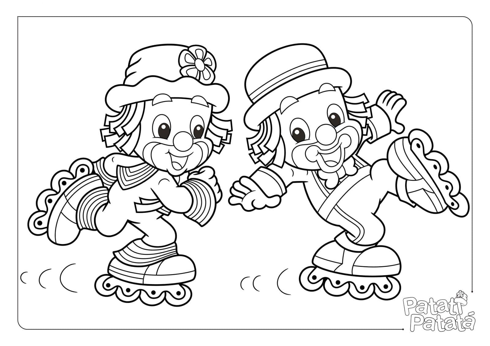 Desenhos Para Colorir E Imprimir  Desenhos Do Patati Patata Para