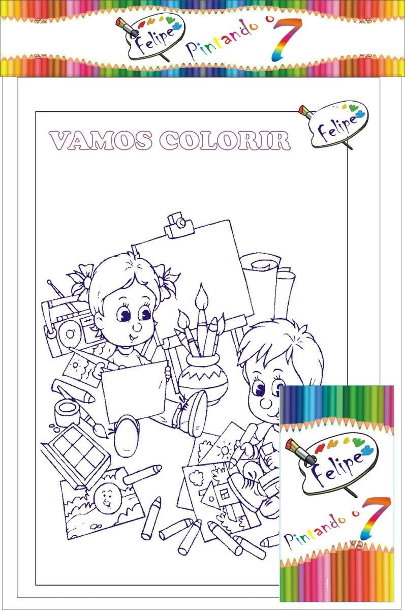 Pintando O Sete Kits Para Colorir