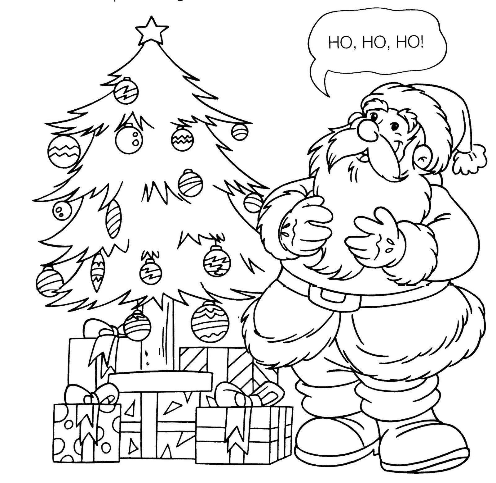 15 Desenhos De Papai Noel Para Colorir E Imprimir