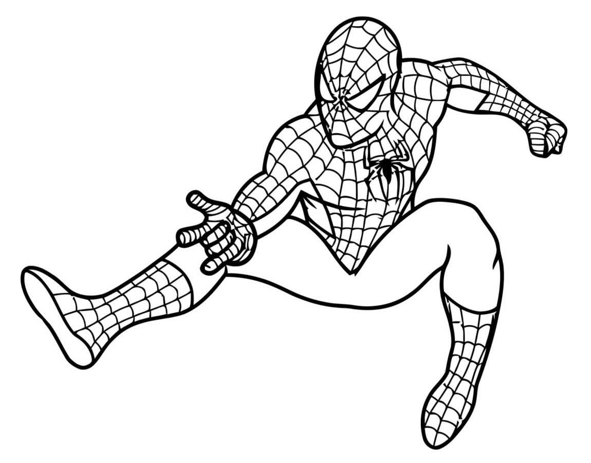 Desenho De Poderes Do Homem Aranha Para Colorir