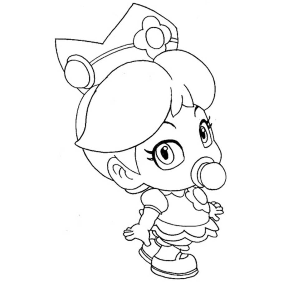 Desenho De Princesa Peach Baby Para Colorir