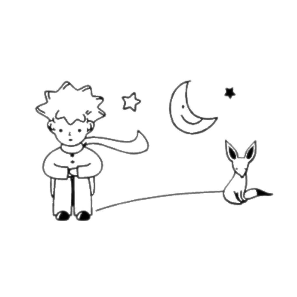 Desenho De Raposa Do Pequeno Príncipe Para Colorir