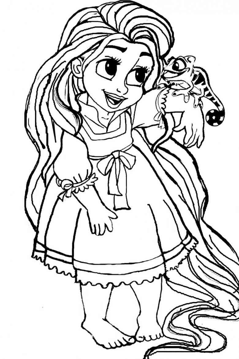 Desenho De Rapunzel Disney Baby Para Colorir
