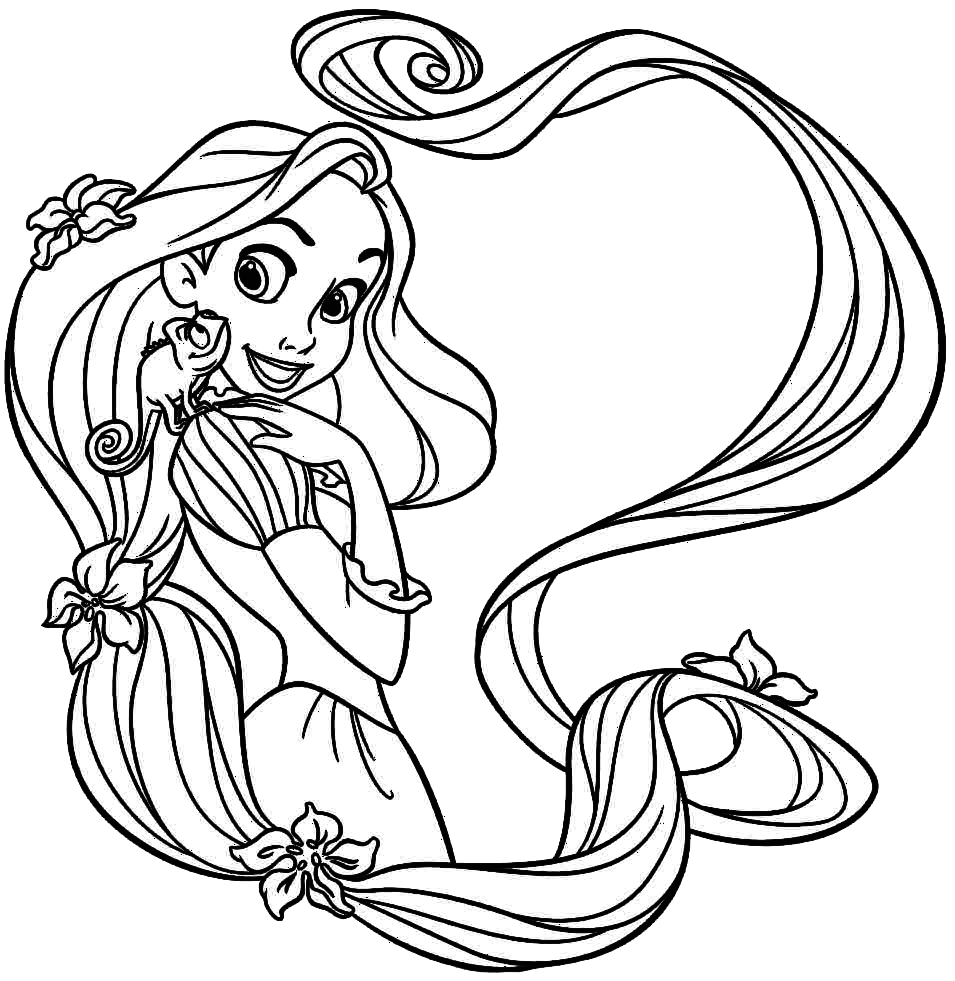 Rapunzel Para Colorir E Imprimir