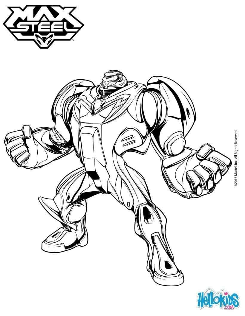 Superhero Turbo Max Steel Coloring Pages