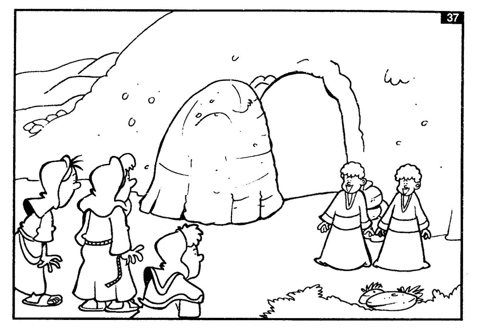 Imagem De Jesus Ressuscitado Para Colorir – Pampekids Net
