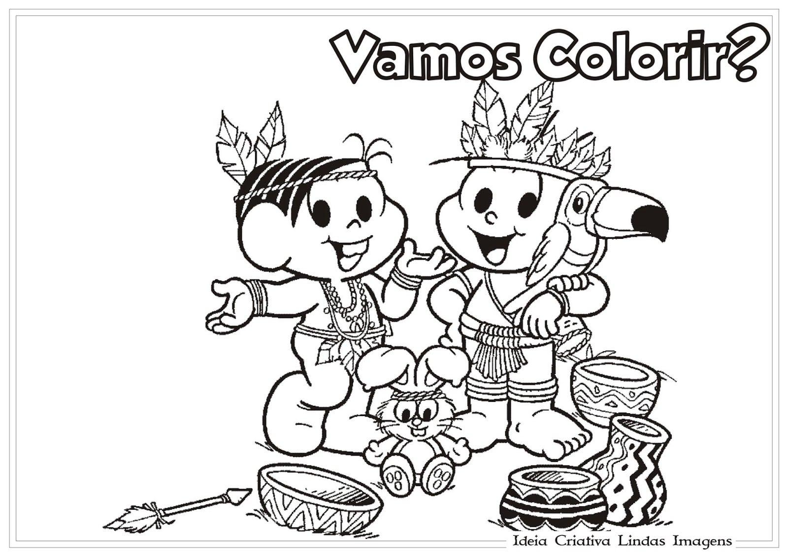 Turma Da Monica Para Colorir E Pintar 28