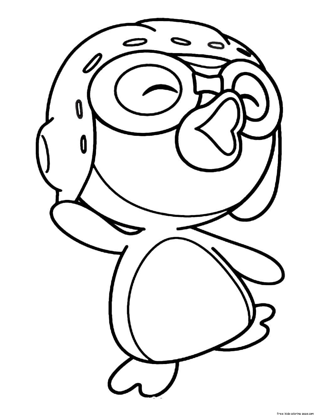 Desenhos De Pororo O Pequeno Pinguim Para Colorir, Pintar