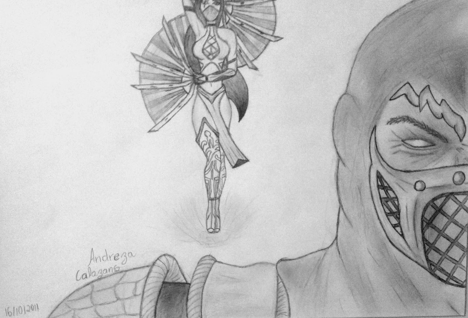 Desenho Amador  Mortal Kombat