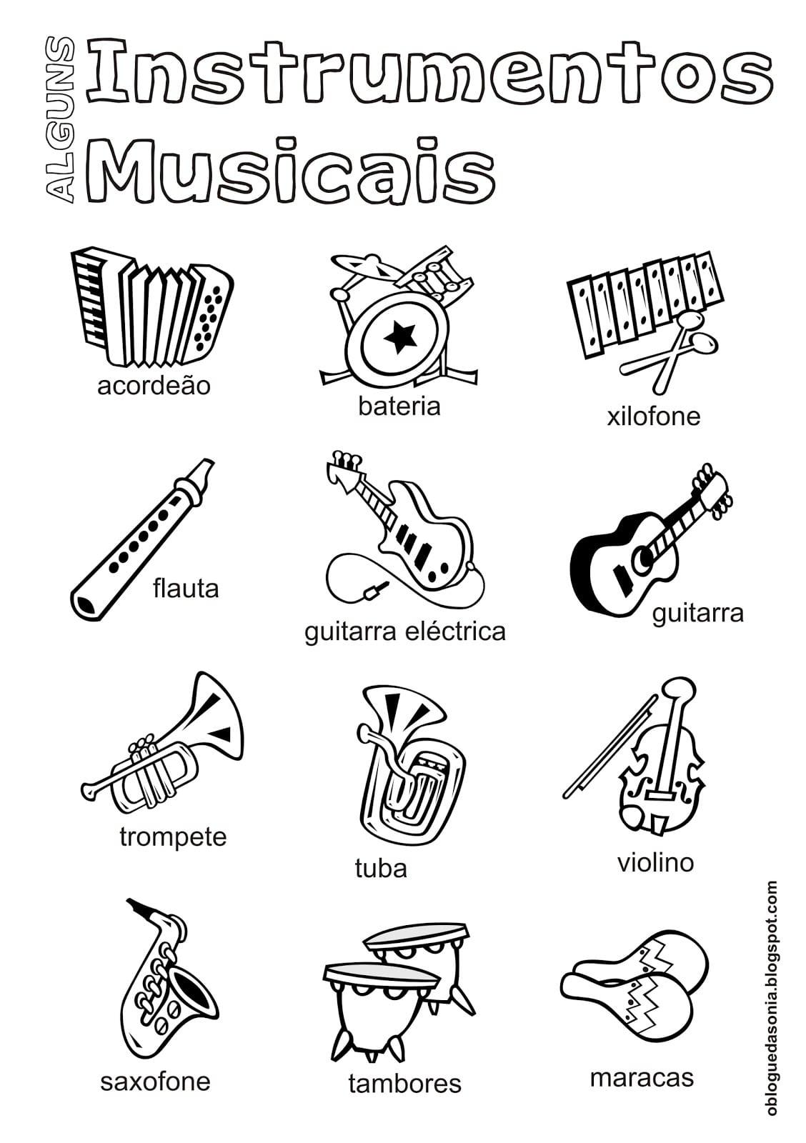 Atividade De Instrumentos Musicais