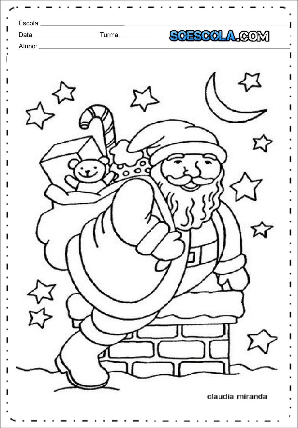 Desenhos De Papai Noel Para Colorir E Imprimir