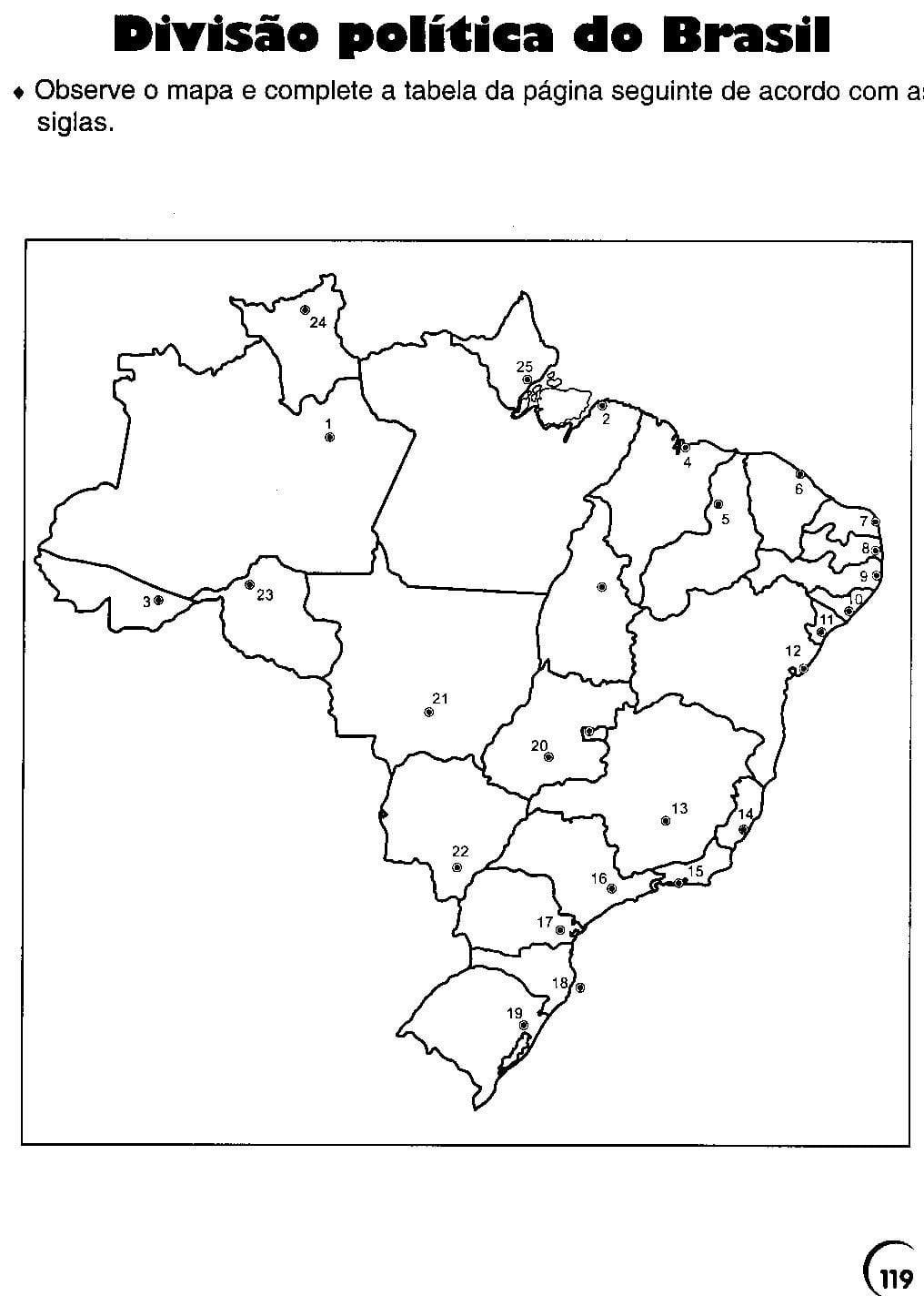 Cantinho De História E Geografia  Mapa Do Brasil