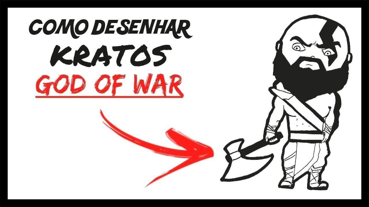 Como Desenhar O Kratos Chibi (god Of War)