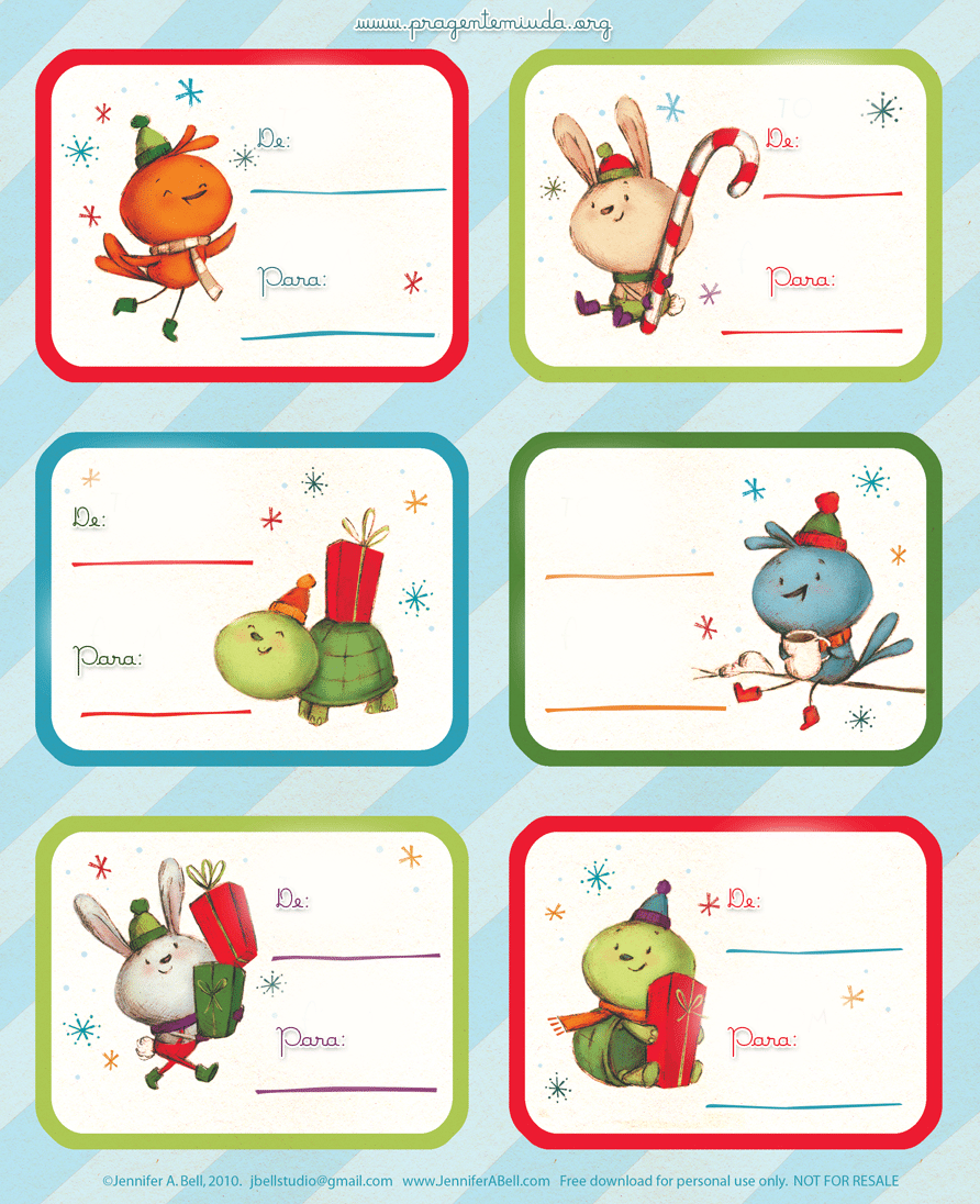 Mini Tags De Natal Para Imprimir