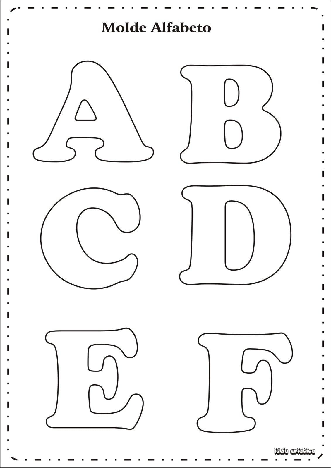 Eva Dalva@arte  Molde De Alfabeto