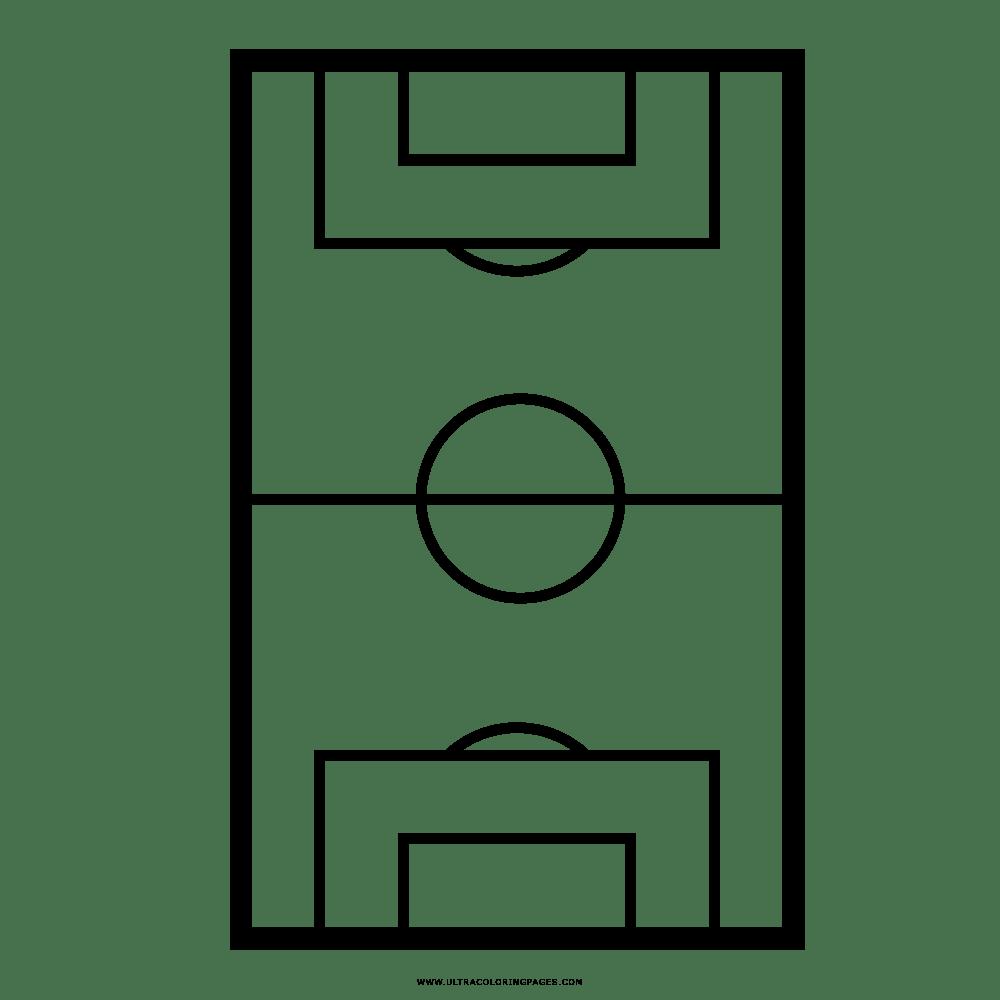 Campo De Futebol Desenho Para Colorir