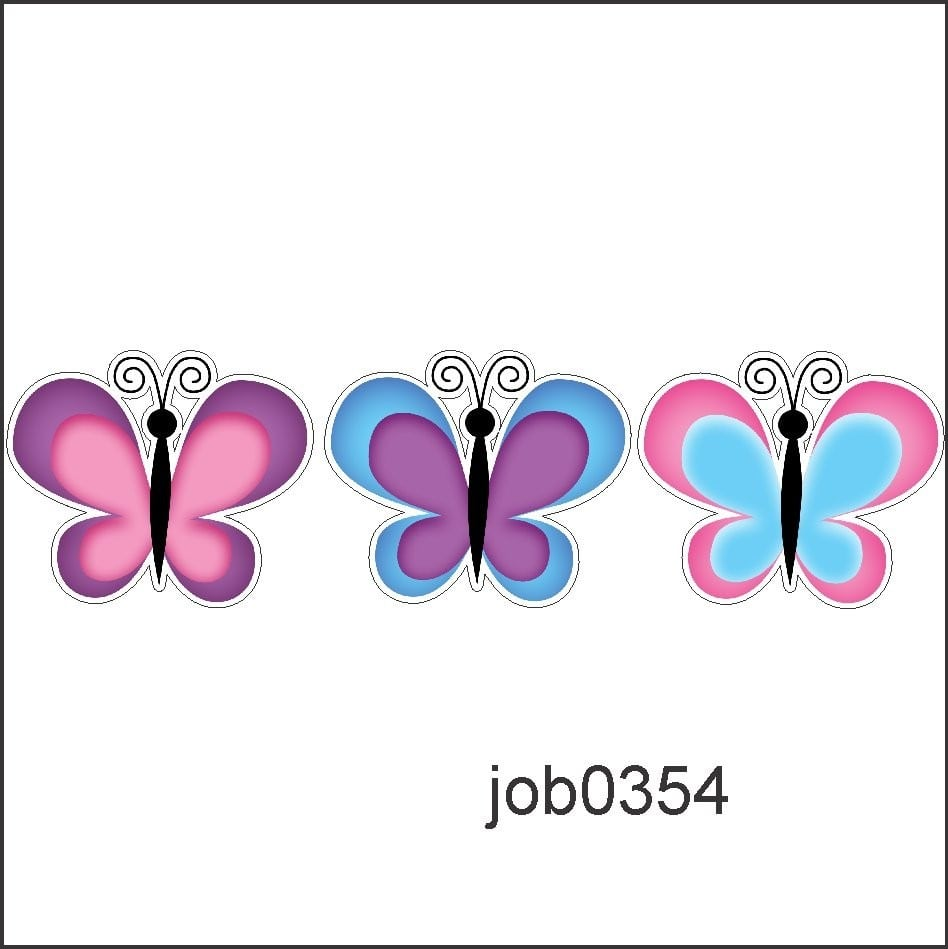 Adesivo Decorativo Borboletas Desenho Colorido Job0354