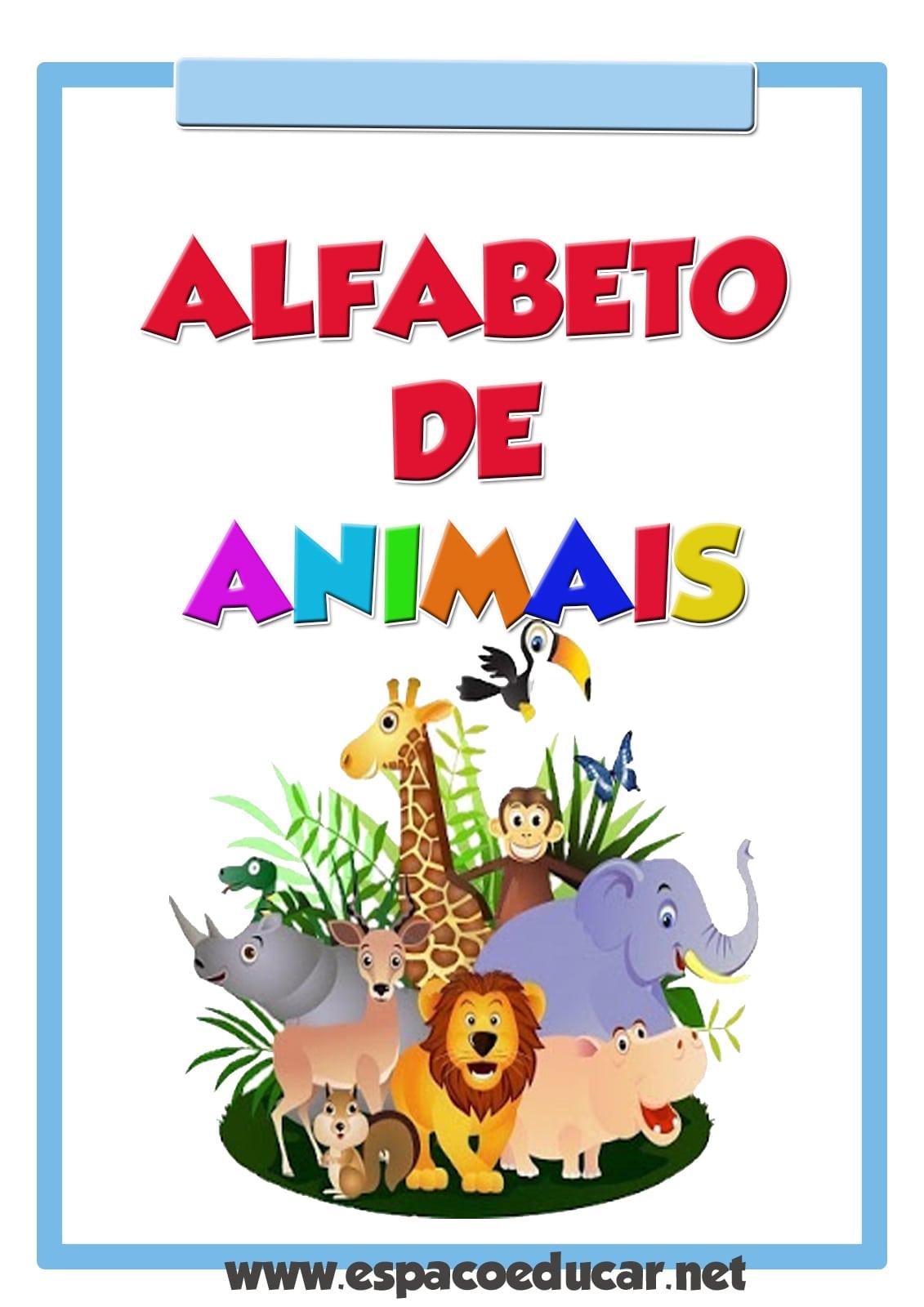 EspaÇo Educar  Cartazes Alfabeto De Animais Colorido Grátis Para